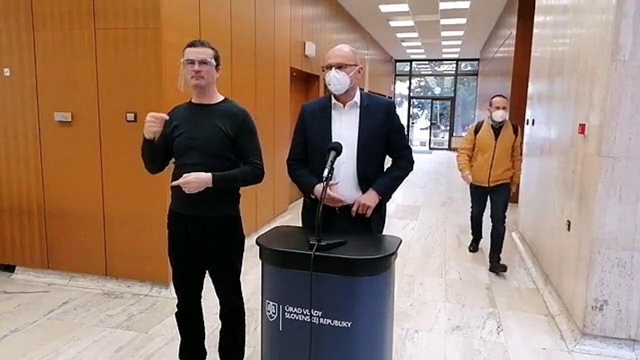 ZÁZNAM: Brífing ministra hospodárstva R. Sulíka pred rokovaním Vlády SR