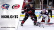 Blue Jackets @ Hurricanes 3/18/21 | NHL Highlights
