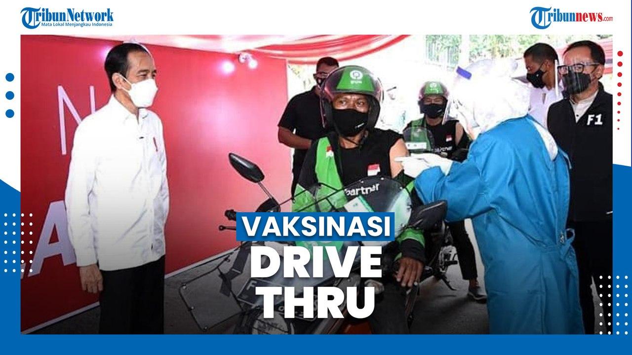 Joko Widodo Tinjau Vaksinasi Covid-19 Model Drive Thru ...