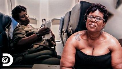 Cynthia anda de avião depois de 20 anos   Quilos mortais: Como eles estão agora?   Discovery Brasil