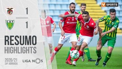 Highlights: Santa Clara 1-1 Tondela (Liga 20/21 #24)