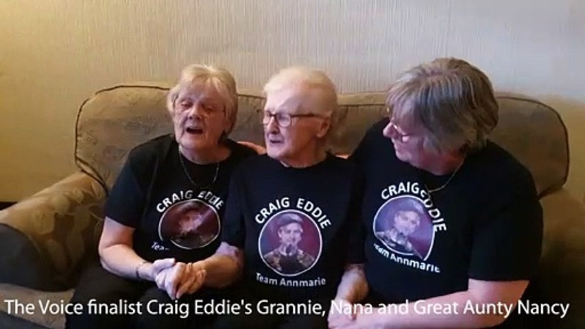 The Voice finalist Craig Eddie's Grannie, Nana and Great Aunty Nancy