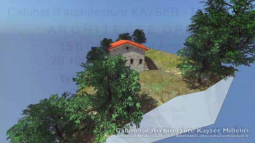 Maison traditionnelle Corse / Maison familiale de village en pierre de pays en Corse par le Cabinet d'Architecture Kayser Milleliri, Architecte DPLG