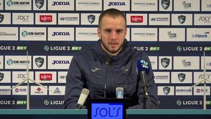 Après HAC - Sochaux (0-2), réaction de Victor Lekhal