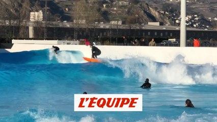 Quand Justine Dupont et les riders du Freeride World Tour surfent en Suisse - Adrénaline - Surf