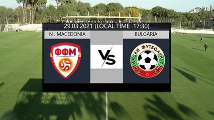 RELIVE: enda TOUR Antalya Cup 2021 - U21 NT Matches - MKD U21 v BUL U21