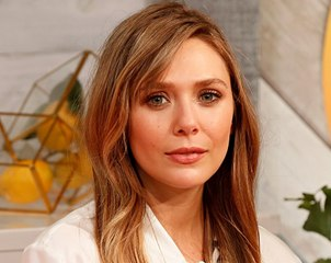 Even Elizabeth Olsen Couldn't Resist Trying Out the Curtain Bangs Trend