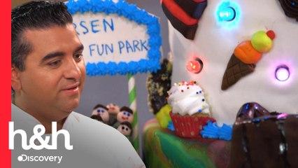 Uso de luzes e trem em movimento para bolos sobre parque de diversões | Asse como Buddy | H&H Brasil