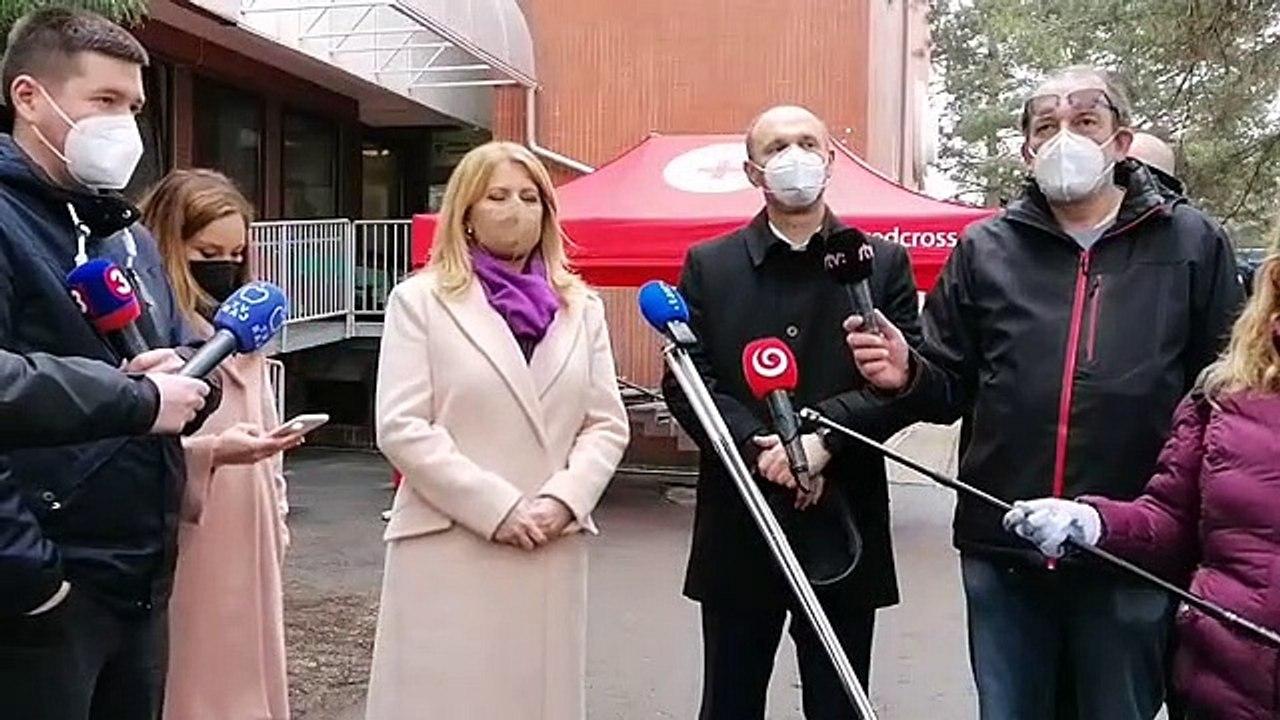 ZÁZNAM: Vyjadrenie prezidentky SR Z. Čaputovej pre médiá