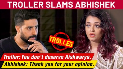Abhishek Bachchan INSULTS A Troller For Dragging Aishwarya Rai In A Comment