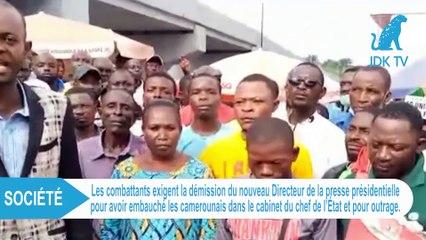RDC : les combattants exigent la démission du nouveau directeur de la presse présidentielle