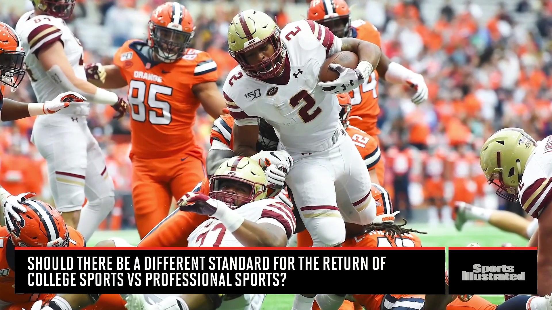 College Sports vs. Professional Sports Returning