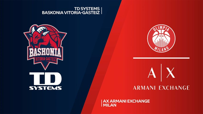 TD Systems Baskonia Vitoria-Gasteiz - AX Armani Exchange Milan Highlights   EuroLeague, RS Round 31