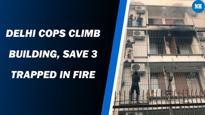 Delhi Cops Climb Building, Save 3 Trapped In Fire