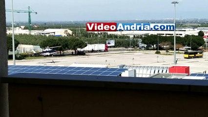 Andria: elicottero dei Carabinieri decolla dal parcheggio dell'ipermercato