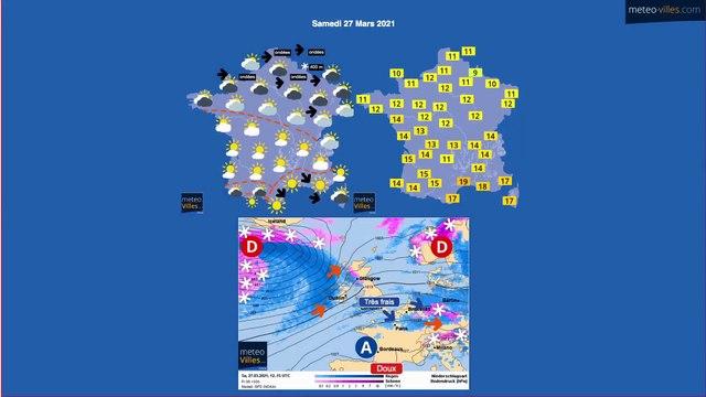 bulletin meteo du samedi 27 mars 2021