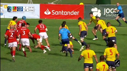 HIGHLIGHTS - PORTUGAL / SPAIN - RUGBY EUROPE CHAMPIONSHIP 2021