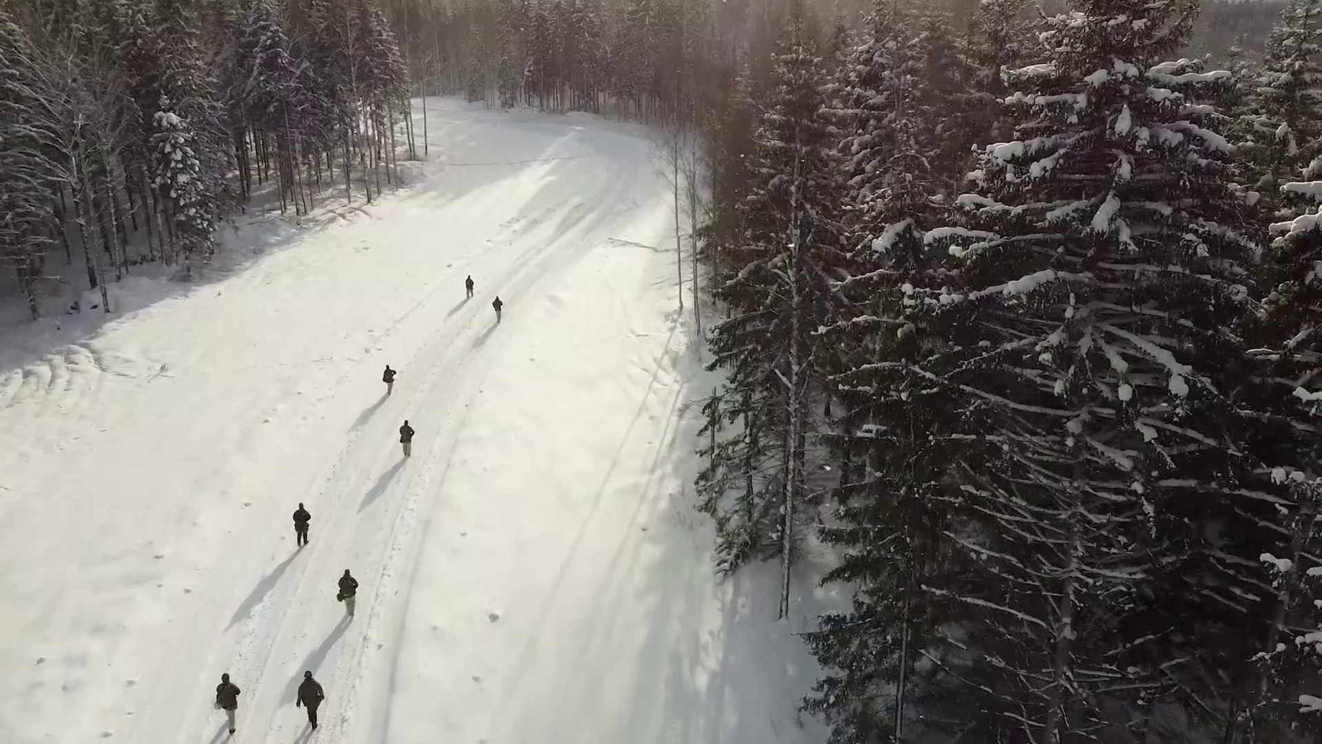 UK and Estonian Troops Conduct Winter Training in Freezing Conditions