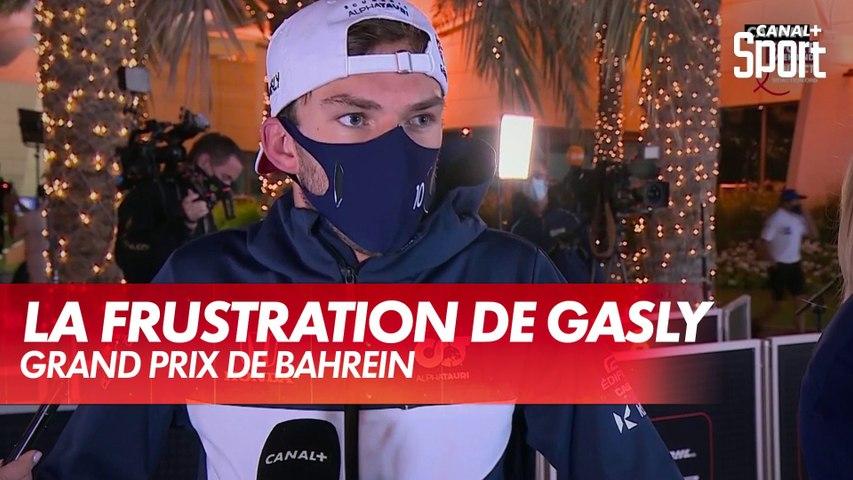 La frustration de Gasly après le Grand Prix de Bahreïn