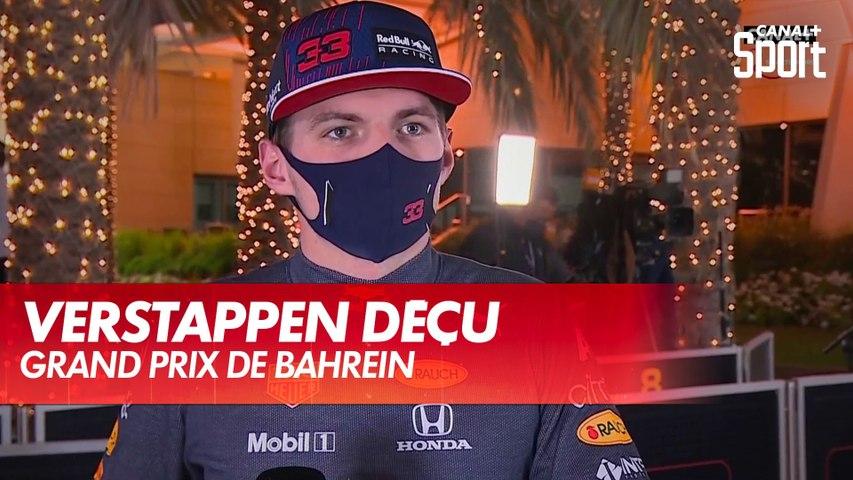 La déception de Max Verstappen après le Grand Prix de Bahreïn