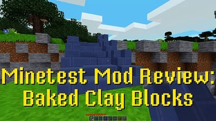 Minetest Mod Review: Baked Clay Blocks