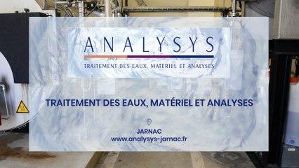 Analysys, traitement des eaux, matériel et analyses à Jarnac.