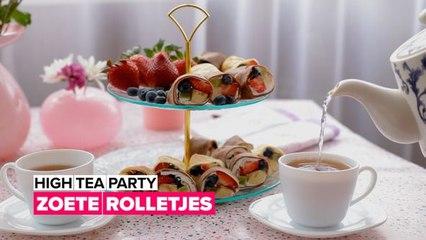 High tea party: Zoete rolletjes
