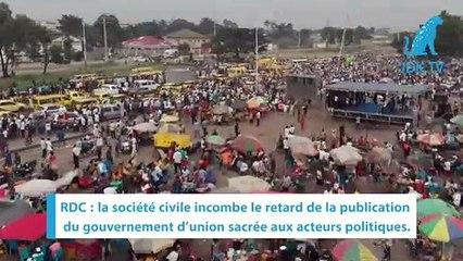 RDC : la classe politique jugée responsable du retard de la sortie du gouvernement d'union sacrée