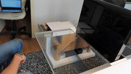 Cet ingénieur a conçu une table basse modulable qui va révolutionner le télétravail