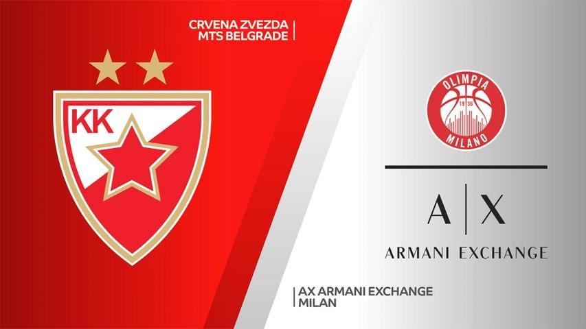Crvena Zvezda mts Belgrade - AX Armani Exchange Milan Highlights   Turkish Airlines EuroLeague, RS Round 32