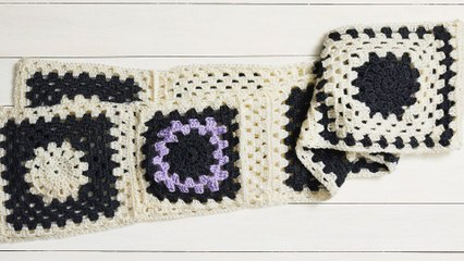 How To Crochet A Granny Square Scarf | Part 2 | Stitch Club