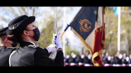 En vidéo, la cérémonie de baptême de la 71e et 72e promotions de commissaires de police