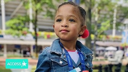 Serena Williams' Daughter Olympia Crashes Dad's Video