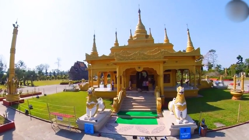 Person Visits Exquisite Buddhist Temple In Arunachal Pradesh In India