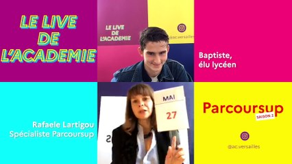 Le live de l'académie Parcoursup 2
