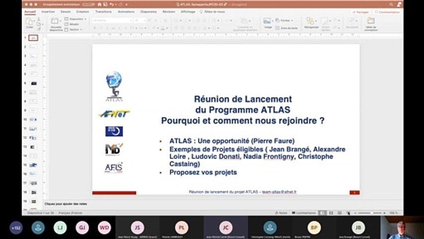 ATLAS : Réunion Lancement  3/3 : 1) Atlas, une opportunité pour les entreprises