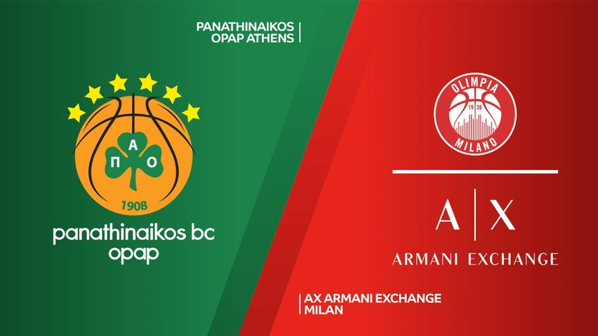 Panathinaikos OPAP Athens - AX Armani Exchange Milan Highlights | Turkish Airlines EuroLeague, RS Round 33