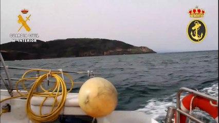 Neutralizada una bomba de la Guerra Civil hundida en el Puerto de Pasaia
