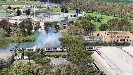 Incendio sulla Roma - Lido, divelti i cavi della linea aerea