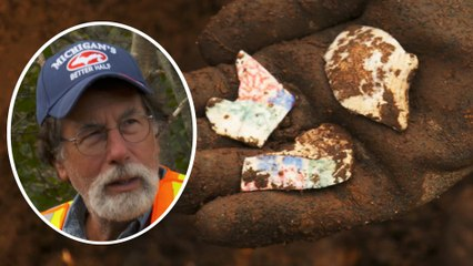 The Curse of Oak Island: Stunning Hand-Painted Artifacts Found