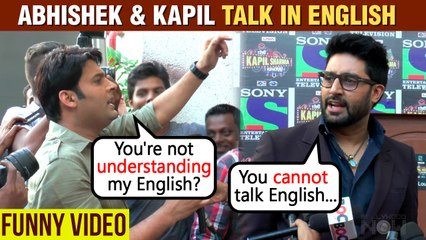Abhishek Bachchan Makes Fun Of Kapil Sharma's English | Funny Video | Throwback