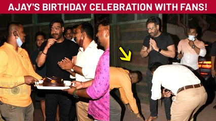 Ajay Devgn Gets A Surprise From His Fans | Celebrates Birthday With Them | Pictures Viral