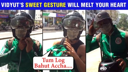 Vidyut Jammwal's SWEETEST Gesture For Media, Does This Unbelievable Thing | Watch Video