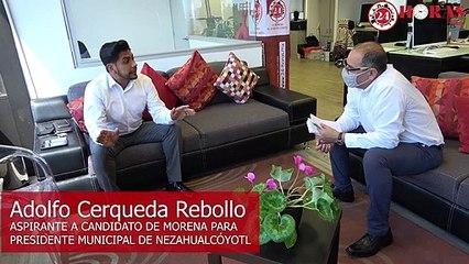 Adolfo Cerqueda Rebollo, aspirante a candidato de Morena para presidencia municipal de Nezahualcóyotl