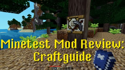 Minetest Mod Review: Craftguide