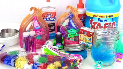 How to Make DIY Trolls World Tour Slime Glue Recipe #WithMe #stayhome