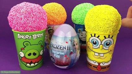 Paw Patrol Play Foam Surprise Cups I FROZEN 2 Angry Birds Spongebob Barbie PJ Masks Toy Story - video dailymotion