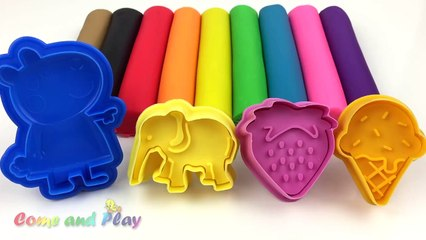 Learn Colors with Play Doh Modelling Clay and Cookie Molds and Surprise - video Dailymotion