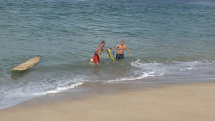 Live Rescue: Couple Nearly Drowns in Hawaii
