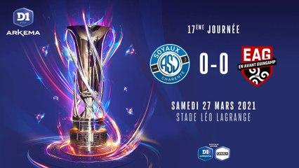 ASJ Soyaux - EA Guingamp (0-0)   J17 - D1 Arkema : le résumé du match